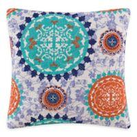 Zarina Medallion Square Throw Pillow