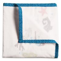 Nursery Works Wee Gallery Organic Cotton Oceanography Sea Animals 3-Layer Muslin Blanket