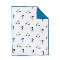 Nursery Works Wee Gallery Organic Cotton Oceanography Layered Quilted Muslin Blanket