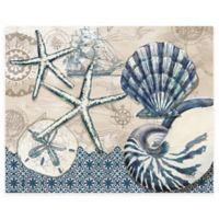 Tide Pool Shells 12-Inch x 15-Inch Glass Cutting Board