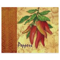 Market Fresh Peppers 12-Inch x 15-Inch Glass Cutting Board