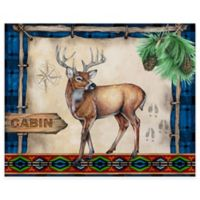 Cabin Deer 12-Inch x 15-Inch Glass Cutting Board