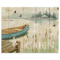 Lakeside Cabin 12-Inch x 15-Inch Glass Cutting Board