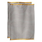 Hampton Stripe Kitchen Towels in Pewter (Set of 2)