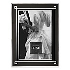 Reed & Barton® Luxe Collection 5-Inch x 7-Inch Deco Picture Frame in Black/Chrome