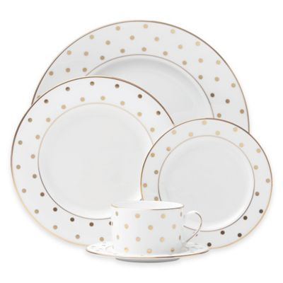 kate spade new york Larabee Road™ Gold 5-Piece Place Setting  sc 1 st  Bed Bath \u0026 Beyond & Buy Gold Fine China Sets from Bed Bath \u0026 Beyond