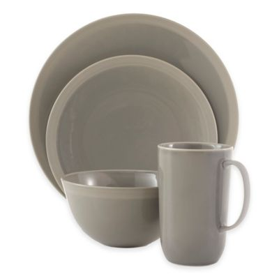vera wang wedgwood vera gradients 4piece place setting in clay