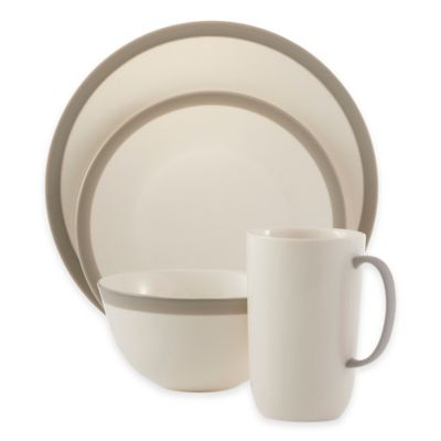 Vera Wang Wedgwood® Vera Gradients 4-Piece Place Setting in Linen  sc 1 st  Bed Bath \u0026 Beyond & Buy Vera Wang Better Casual Dinnerware from Bed Bath \u0026 Beyond
