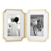 kate spade new york Sullivan Street™ Gold 2-Opening Hinged Picture Frame
