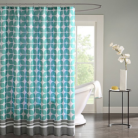 Intelligent design lita shower curtain bed bath beyond - Intelligent shower ...