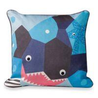 Nursery Works Wee Gallery Organic Cotton Oceanography Shark Toddler Pillow