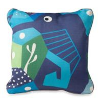 Nursery Works Wee Gallery Organic Cotton Oceanography Seahorse Toddler Pillow
