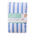 aden® by aden + anais® Muslin Fitted Crib Sheet in Blue Stripe