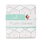 aden® by aden + anais® Muslin Blanket in Pink Hexagon
