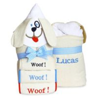 Silly Phillie® Creations Puppy Hooded Baby Boy Towel Set