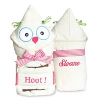 Silly Phillie® Creations Owl Hooded Baby Girl Towel Set