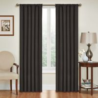 SolarShield® Kate 95-Inch Rod Pocket Room Darkening Window Curtain Panel in Black
