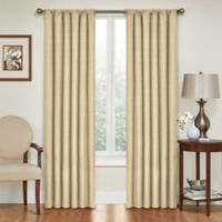 SolarShield® Kate 84-Inch Rod Pocket Room Darkening Window Curtain Panel in Café