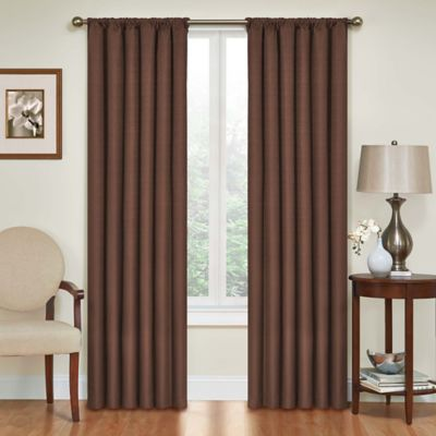 Delightful SolarShield® Kate 63 Inch Rod Pocket Room Darkening Window Curtain Panel In  Chocolate