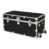 Rhino Trunk and Case™ XXL Rhino Armor Large Trunk with Removable Wheels in Black