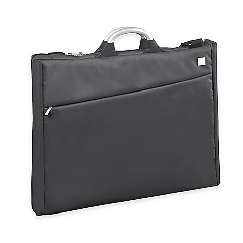 Lexon airline garment bag in grey bed bath beyond for Wedding dress garment bag for plane