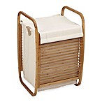 Household Essentials® Open-Side Bamboo Slat Laundry Hamper