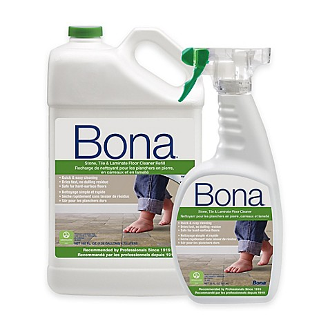 Bona 160 fl oz hard surface floor cleaner refill with for Bathroom floor cleaning products