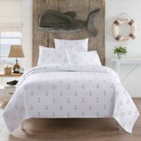 Lamont Home™ Anchors King Coverlet in White/Tan