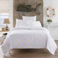 Lamont Home™ Anchors King Coverlet in White/Yellow