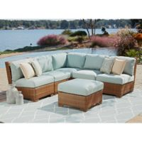 Panama Jack St. Barth's 6-Piece Sectional Set in Sunbrella® Canvas Spa
