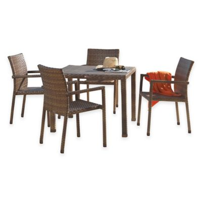 Panama Jack St. Barthu0027s 5 Piece Outdoor Arm Chair Dining Set