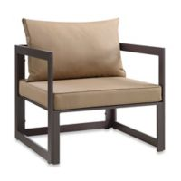 Modway Fortuna Outdoor Patio Armchair in Mocha