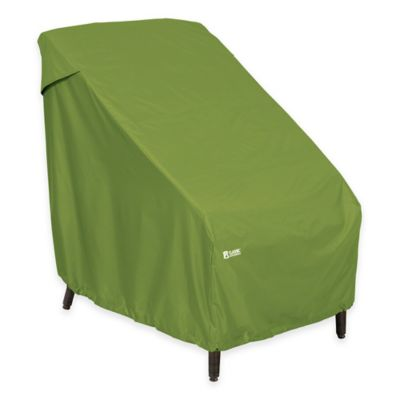classic accessories highback patio chair cover in green - Patio Chair Covers