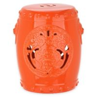 Safavieh Dragon Coin 17-Inch Garden Stool in Orange