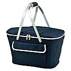 Picnic at Ascot Collapsible Basket Cooler in Navy