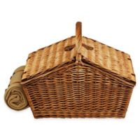 Picnic at Ascot Huntsman Basket for Four in London with Coffee Set and Blanket