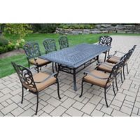 Oakland Living Clairmont 9-Piece Outdoor Dining Set in Antique Bronze