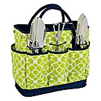 Picnic at Ascot Trellis Green Gardening Tote with Tools