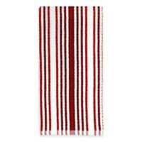 Kitchensmart® Cotton Stripe Kitchen Towel in Red Multi