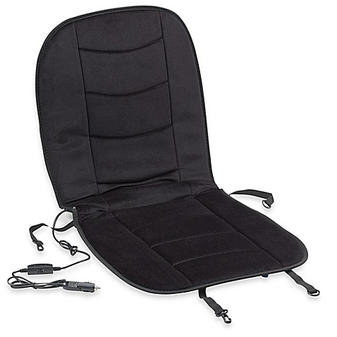 luxury heated car seat cushion in black bed bath beyond. Black Bedroom Furniture Sets. Home Design Ideas