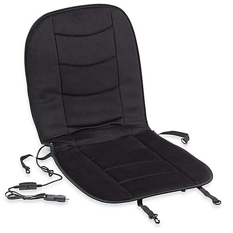 luxury heated car seat cushion in black bed bath beyond. Black Bedroom Furniture Sets. Home Design Ideas