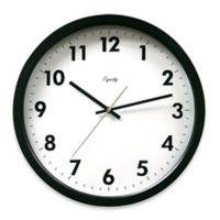 La Crosse Technology Commercial Analog Clock in Black