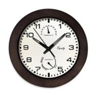 La Crosse® Technology Thermometer/Hygrometer Wall Clock in Brown