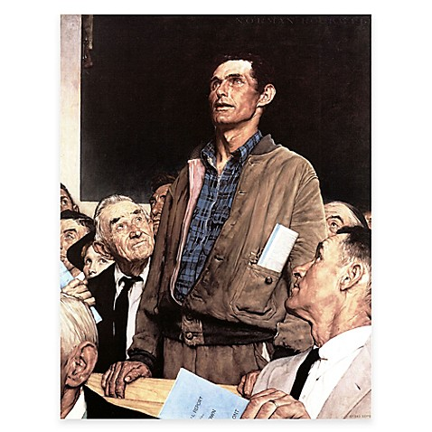 Norman Rockwell Freedom Of Speech Canvas Wall Art Bed