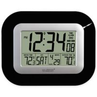 La Crosse Technology Atomic Digital Clock with In/Outdoor Temperature in Black
