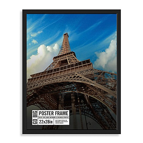 buy go big 22 inch x 28 inch poster frame in black from bed bath beyond. Black Bedroom Furniture Sets. Home Design Ideas