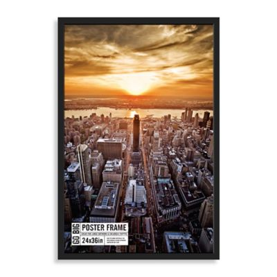 go big 24 inch x 36 inch poster frame in black