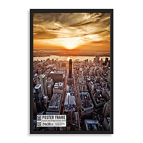 buy go big 24inch x 36inch poster frame in black from