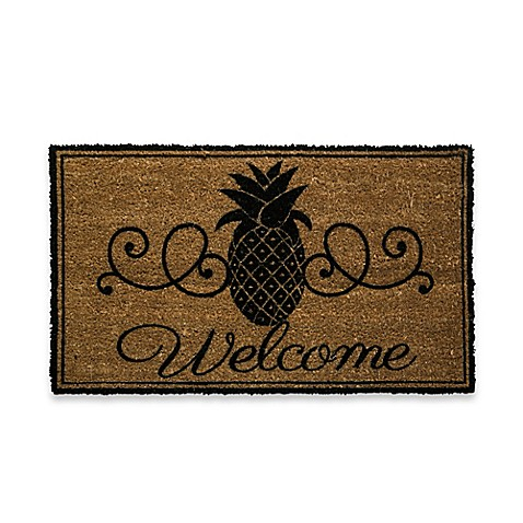 Pineapple Welcome Door Mat Insert Bed Bath Amp Beyond