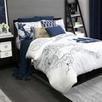 Shelburne Twin Duvet Cover Set in Navy/White
